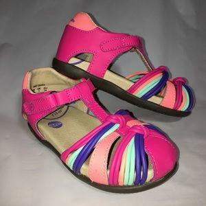 STRIDE RITE Pink Sandals Girl Size 8 SRT Dana